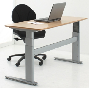 Conset 501-27 Sit Stand Electric Desk -  Wave