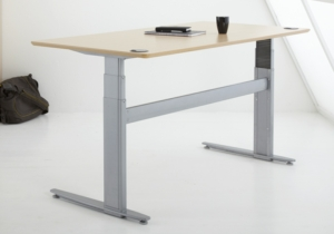 Conset 501-29 Sit Stand Electric Desk - Rectangular